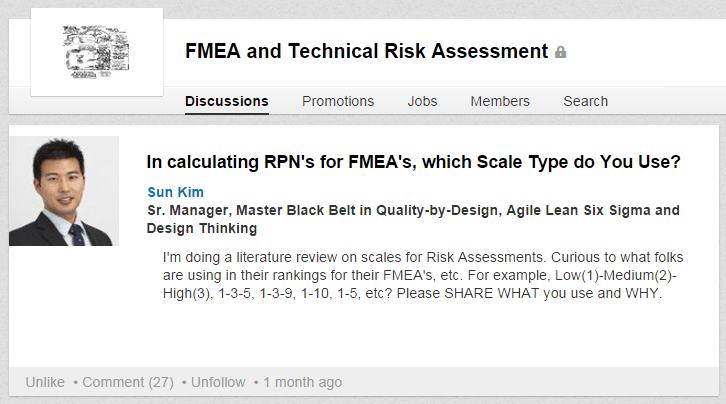 RPN for FMEA