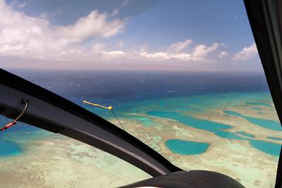 Heli Tour over Molokai, turning back to West Maui