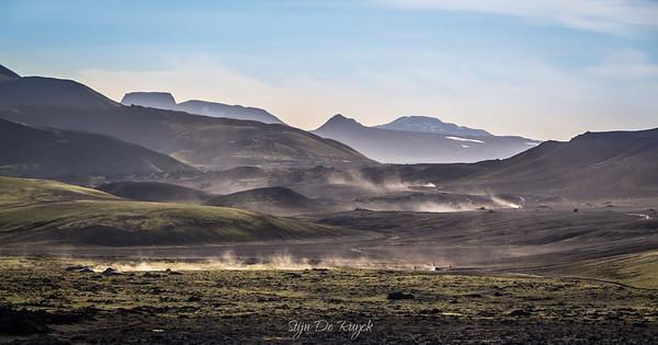 F208 returning from Landmannalaugar, Icelandic Highlands