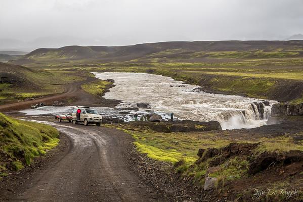 Gygjarfoss along the F347 through the Icelandic Highlands.