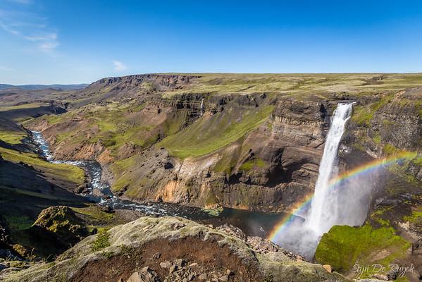 122m high Háifoss, Icelandic Highlands