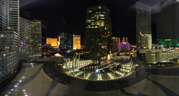 Las Vegas - view of the Citycenter from our hotel room at Aria