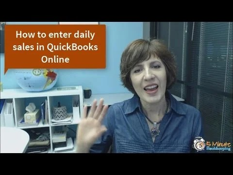 Video: How to record daily sales in QuickBooks Online