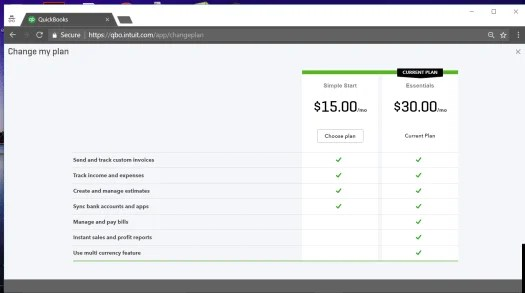 New QuickBooks Online (QBO) Downgrade Option – From Plus Plan To Essentials Simple Start