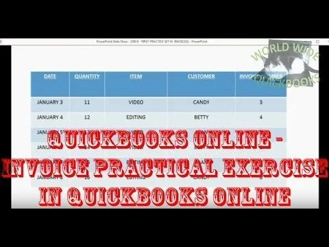 Invoice Practical Exercise in QuickBooks Online