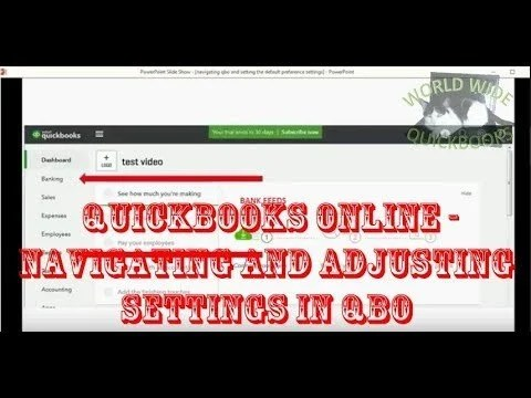 Navigating and Adjusting Settings in QBO