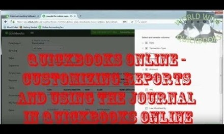Customizing Reports and Using the Journal in QuickBooks Online.