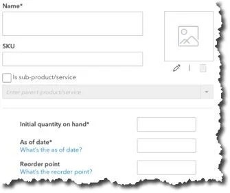 Creating Product and Service Records in QBO