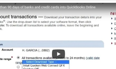 Download more than 90 days of banks and credit cards into QuickBooks Online