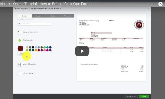 Quickbooks Online Tutorial – How to Bring Life to Your Forms