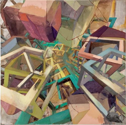 Cister, 120 x 120 cm, Eitempera,Acryl/Pigmente, 2013