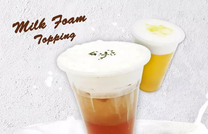 Milk foam topping comes to Qbubble