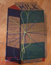 """Milk carton """"How I Met Your Mother""""-styled gift wrapping / QC APPROVED."""