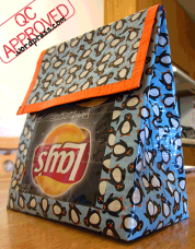 Lunch bag taped together with duct tape n' lined with aluminum foil / QC APPROVED.