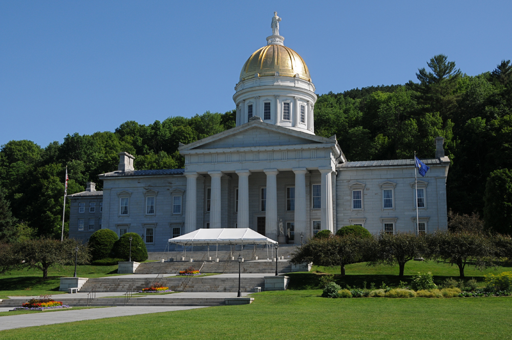 Vermont State Capital building in Montpelier, Vermont.