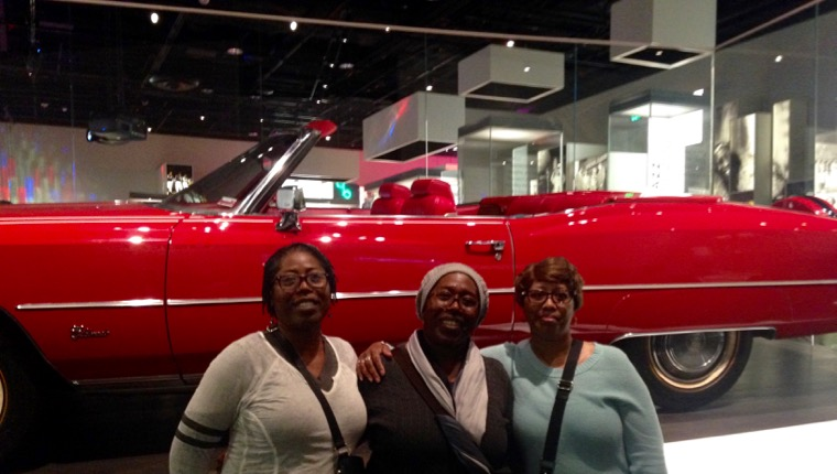 My sisters, Deborah Bell, left, and Marilyn Wise, and I had a picture taken of Chuck Berry's Cadillac. The car is so long, we couldn't get it entirely in the frame and still see our faces.