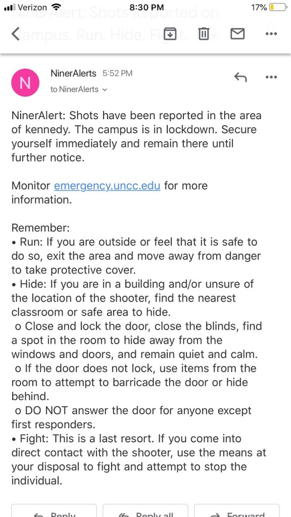 UNCC-campus-shooting-email-alert