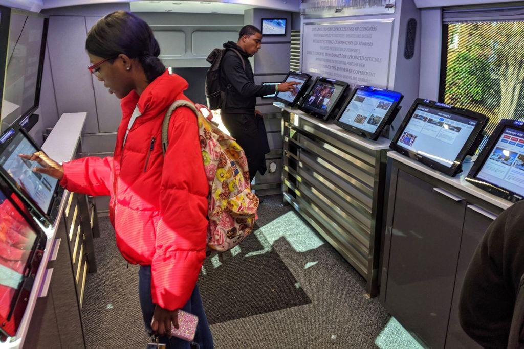 C-Span-Bus-JCSU-interactive-kiosks