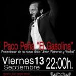 13 Septiemnbre - Paco Gasolina - La Guarida del Ángel - Jerez fra.