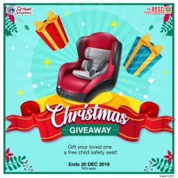 Q-dees Christmas Child Safety Seat Giveaway