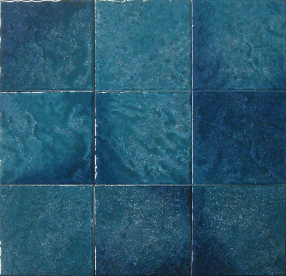 teal 6 x6 porcelain waterline tile