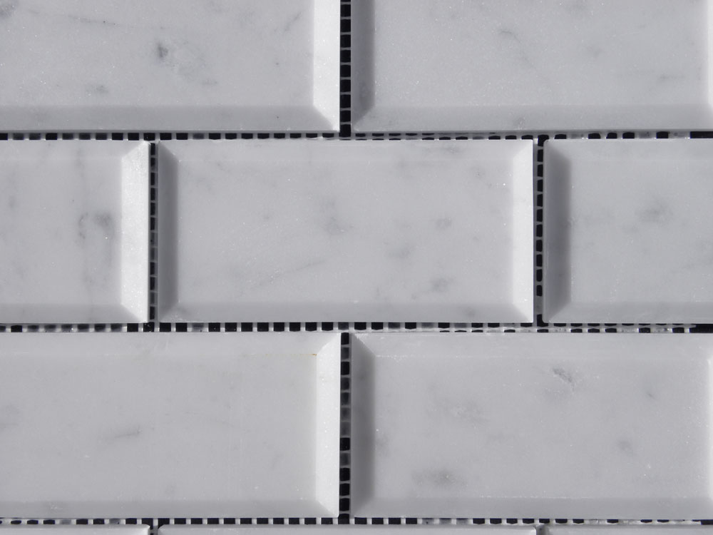 lusso carrara marble mosaic tile qdi