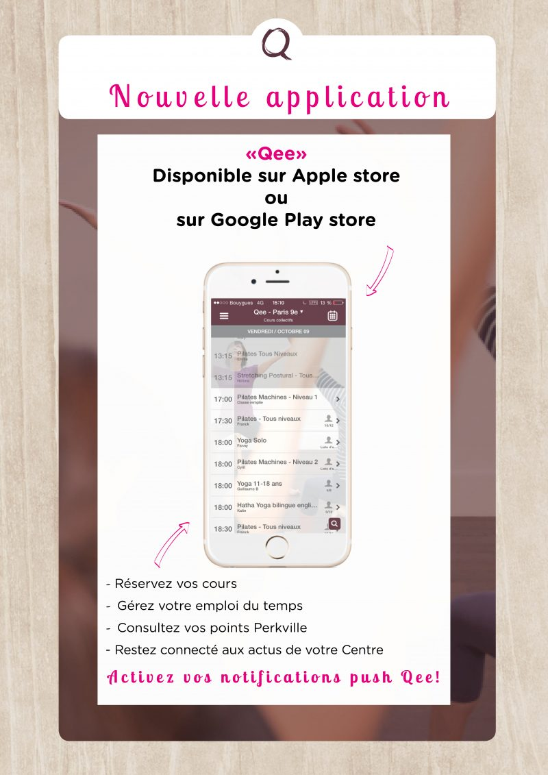 Application mobile de Qee