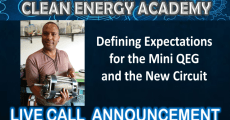 Live Call: Defining Expectations of the Mini-QEG and Circuit Sunday July 15th at 6:00pm EST