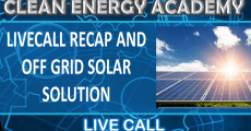 Future off grid solar solution Live Call August 30, 2020
