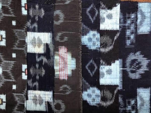 Japanese Vintage Indigo Kasuri Fabric Packs © Susan Ball Faeder