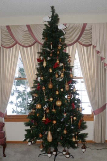 Christmas Tree with over 100 Birdhouse Ornaments