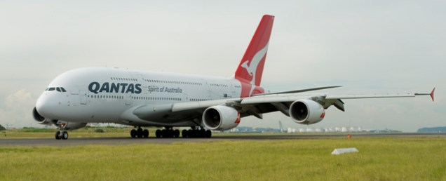 A380 landing at Sydney airport