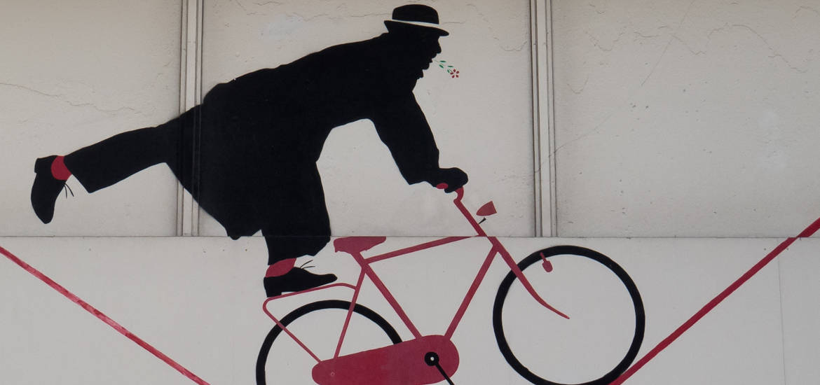 street art par Nemo à paris, cycliste