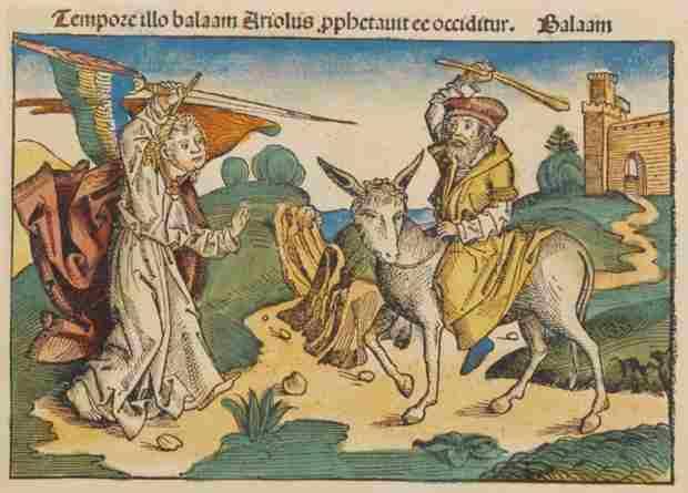Balaam e l'Angelo, Cronache di Norimberga,Hartmann Schedel. E l'evento a cui si fa riferimento nell'amuleto ebraico di Antiochia