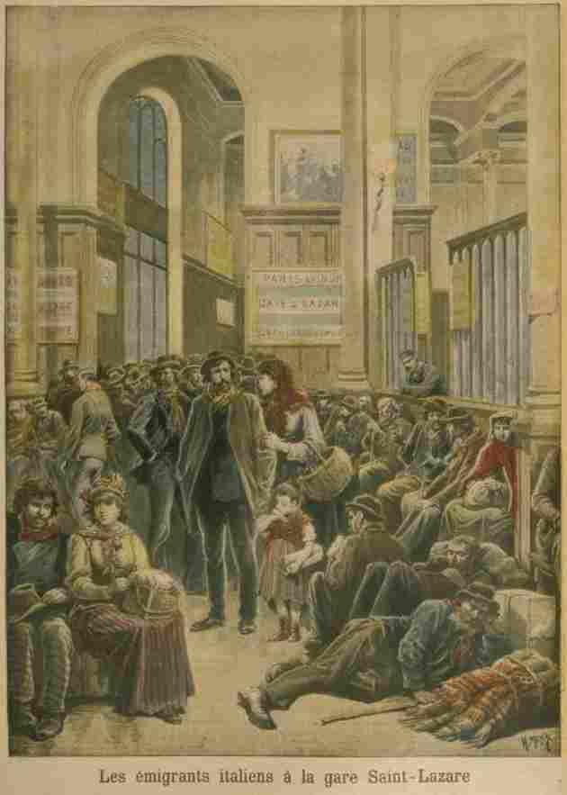 Vespri Marsigliesi: Italiani alla Stazione di Saint-Lazare