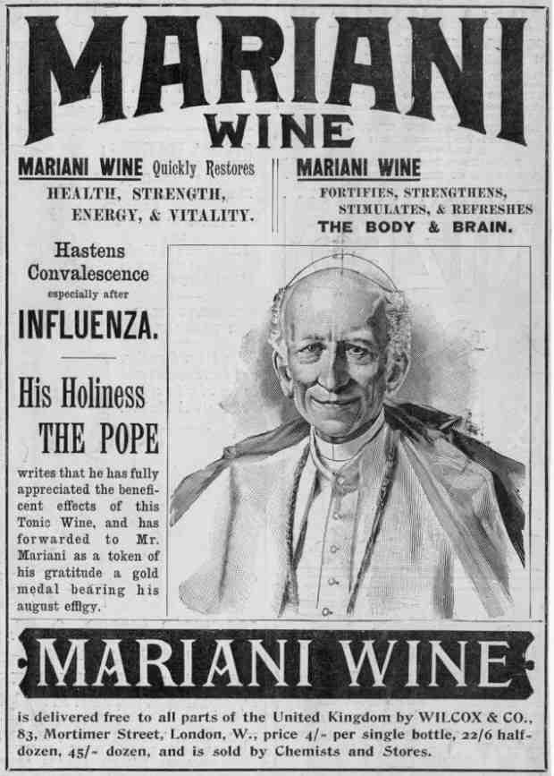 Vino Mariani con Papa Leone XIII, alle origini della Coca-Cola