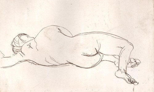 Nude Laying Side, Soula Mantalvanos