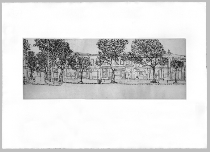 Gertrude Streetscape South Plate 2, Soula Mantalvanos