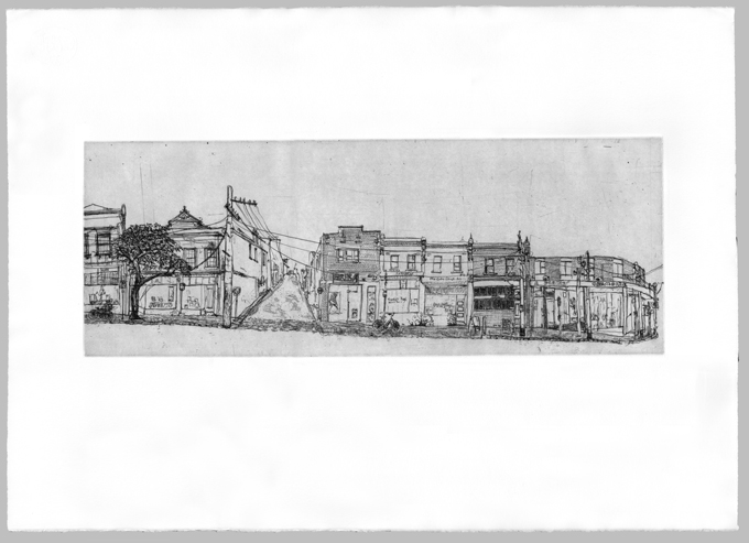 Gertrude Streetscape South Plate 4, Soula Mantalvanos