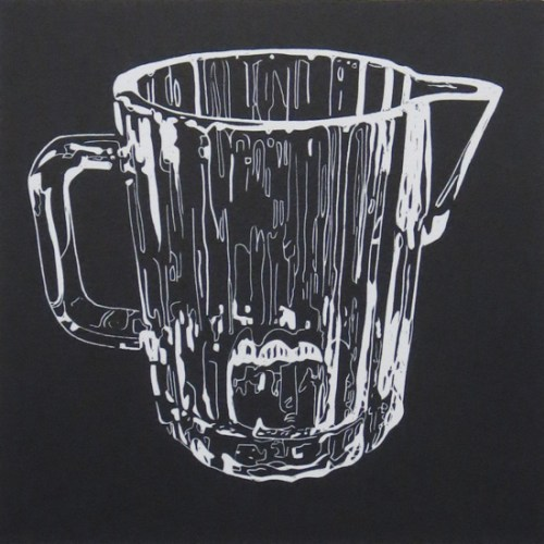 Sharron Okines_2014_Kitchenalia 1016_Linocut_38x28cm