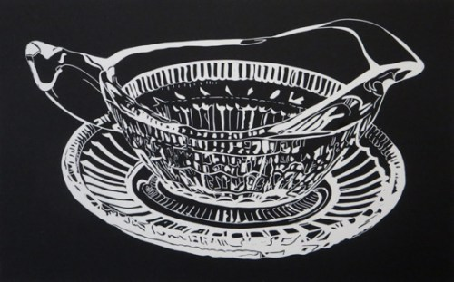 Sharron Okines_1012_Kitchenalia_Linocut_28x38cm