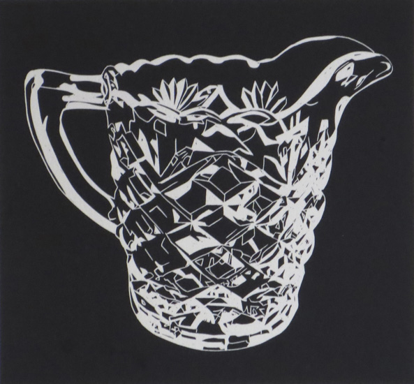 Sharron Okines_2014_Kitchenalia 1012_Linocut_38x28cm