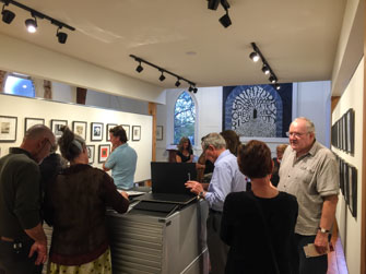 Literary festival exhibition opening