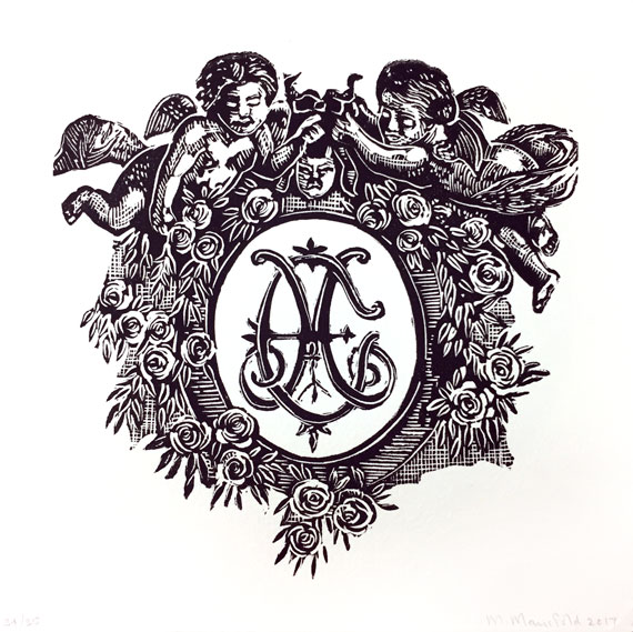Marion-Manifold--William-Shakespeare--A-rose-by-any-other-name-would-smell-as-sweet'--Linocut