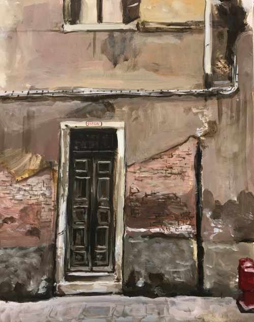 Soula Mantalvanos Brown Door Venice