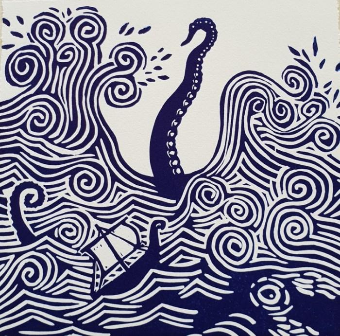 Anita Laurence The Kraken, (Norse Myth) $175