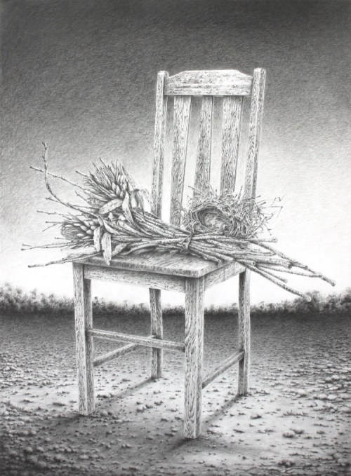 Antonio Balleta Things we leave behind - graphite pencil on fabriano- 56cmx76cm