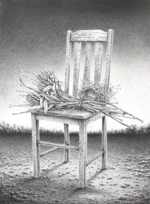 Antonio Balleta Things we leave behind - graphite pencil on fabriano- 56cmx76cm