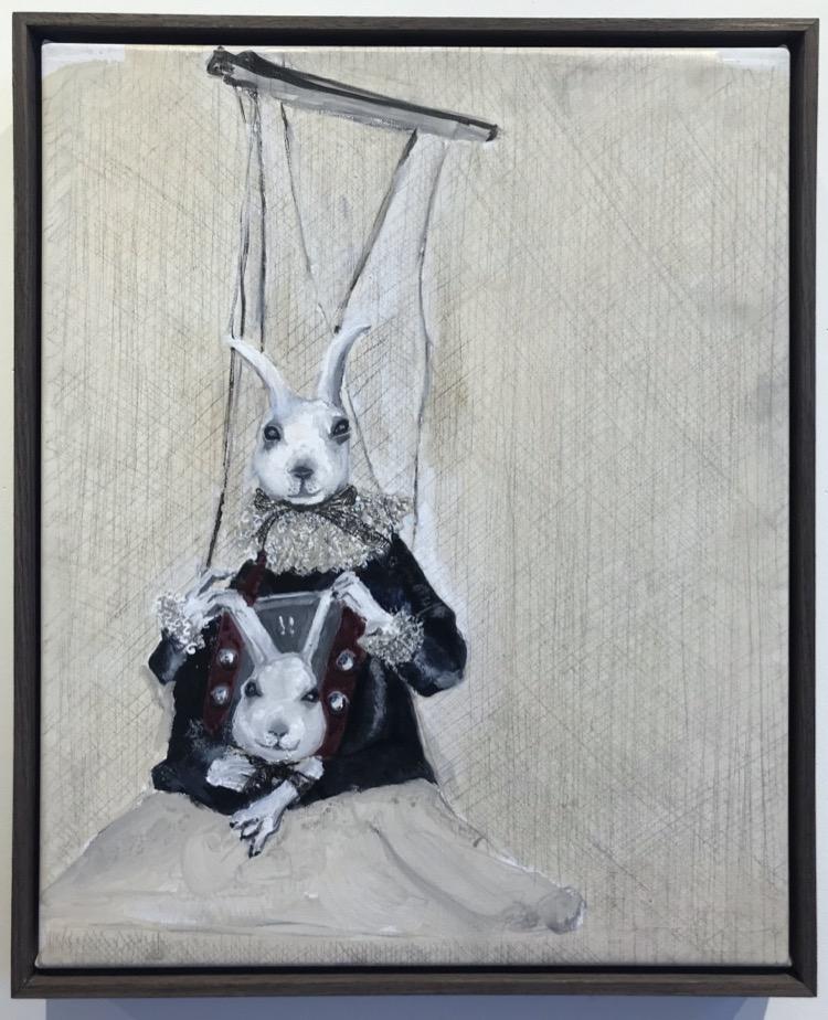 Soula Mantalvanos Hare's heads framed