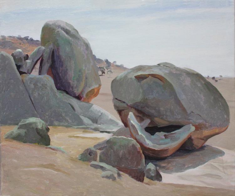 Rick Amor Rocks You Yangs, 1998 51 x61cm Oil on canvas $30000